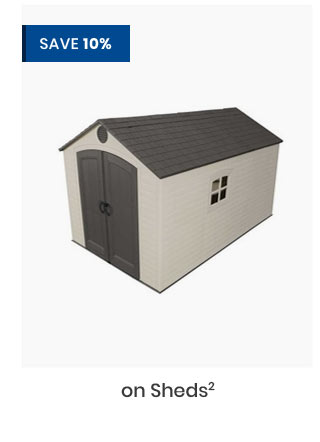 Save 10% on Sheds