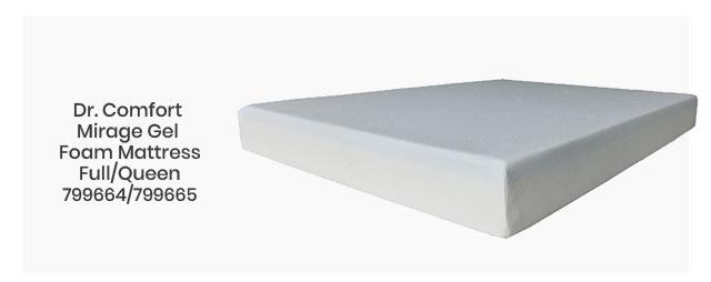Dr. Comfort Mirage Gel Foam Mattress Full/Queen